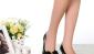 2012春季新款女鞋蝴蝶结中跟真皮鱼嘴鞋k5u1牛漆皮淑女单鞋
